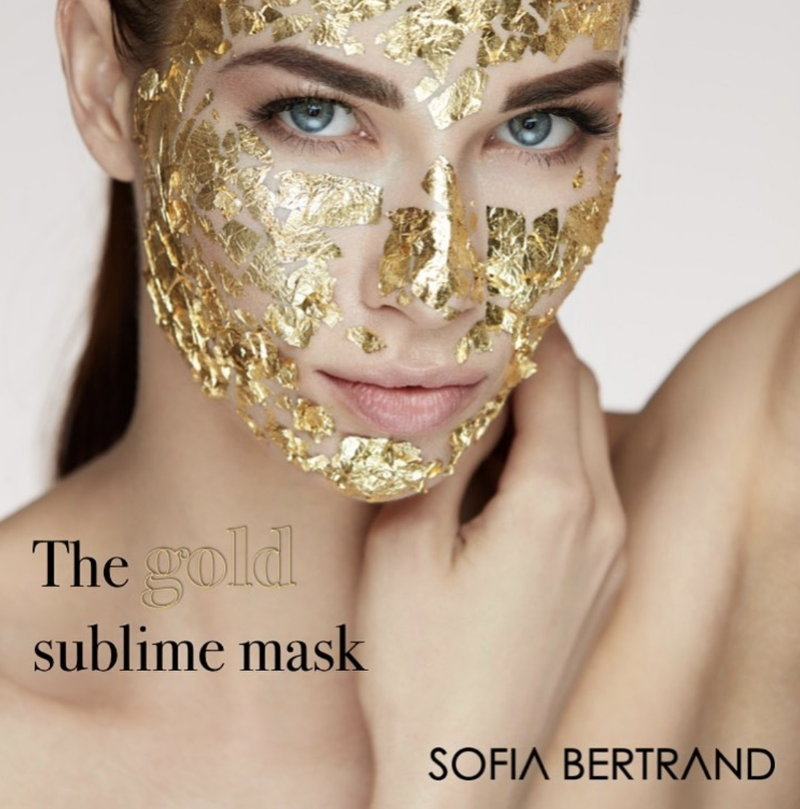 Sublime gold Mask Sofia Bertrand